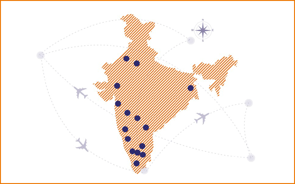 Airline Representation in India Pan India Presence